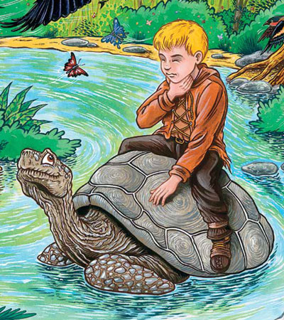 Please, please, Mr Turtle, can you help me find my voice? - Whisper Boy by Claire Everton